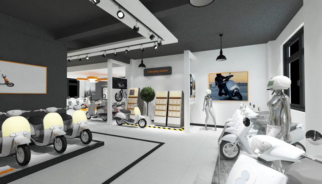 2017年8月新的電動車展廳設計